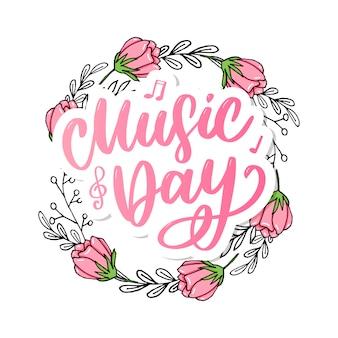 Wereldmuziek dag belettering