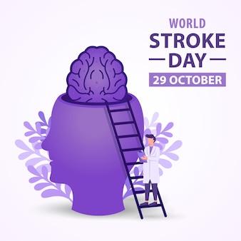 Wereldslagdag illustratieontwerp met onderzoeksconcept