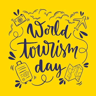 Wereldtoerisme dag belettering