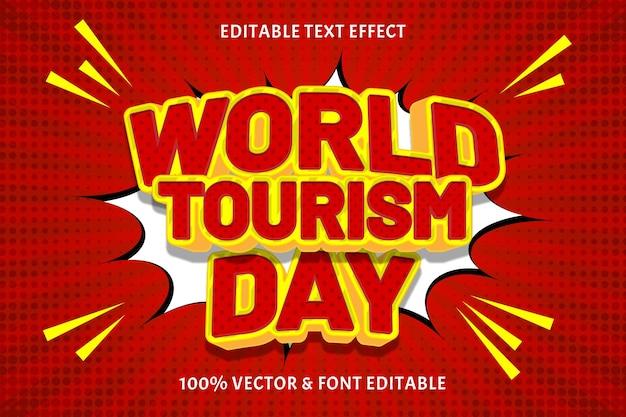 Wereldtoerisme dag bewerkbaar teksteffect