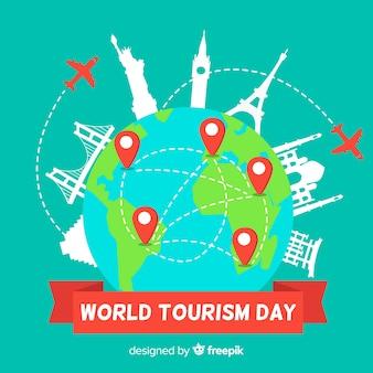Wereldtoerisme dag evenement met transport