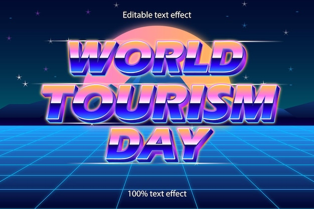 Wereldtoerisme dag teksteffect