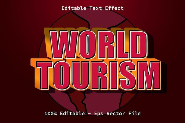 Wereldtoerismedag moderne stijl teksteffect
