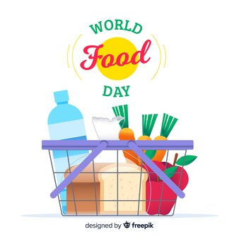 Wereldvoedsel dag achtergrond concept