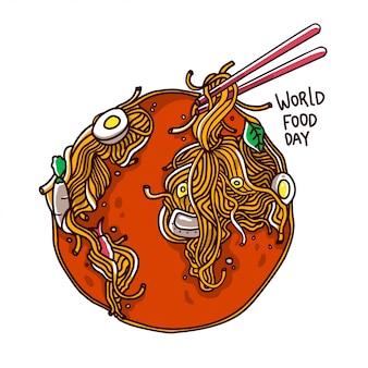 Wereldvoedseldag illustratie