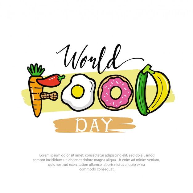 Wereldvoedseldag logo illustratie