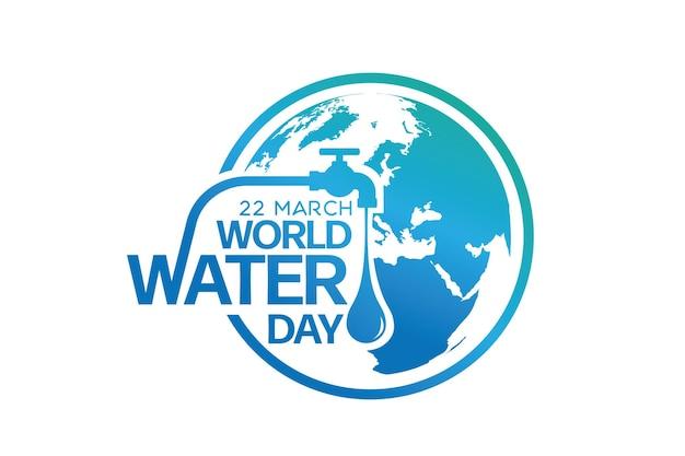 Wereldwaterdag, bewaar het water logo ontwerpsjabloon