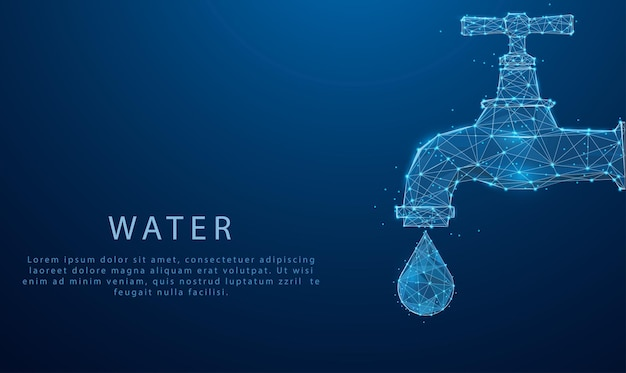 Wereldwaterdagconcept water besparen en wereldmilieubeschermingsconcept milieudag