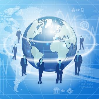Wereldwijd bedrijfsconcept
