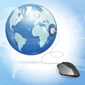 Wereldwijd computerconcept