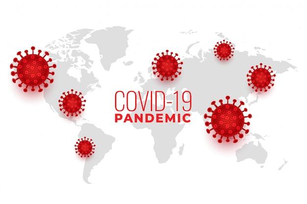 Wereldwijd covid19-coronavirus verspreidde een pandemische infectie-achtergrond
