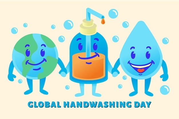Wereldwijd evenement voor de handwasdag