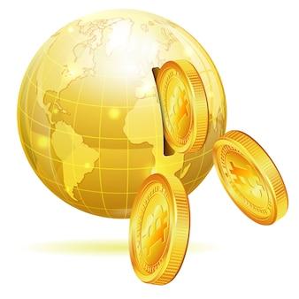 Wereldwijd financieel concept