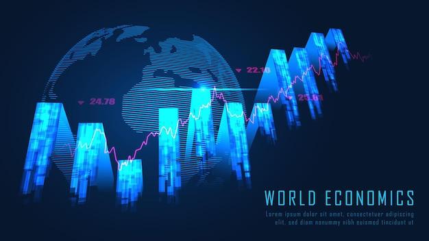 Wereldwijd financieel in grafisch concept