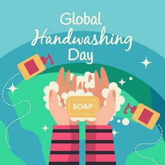 Wereldwijd handenwasdag concept