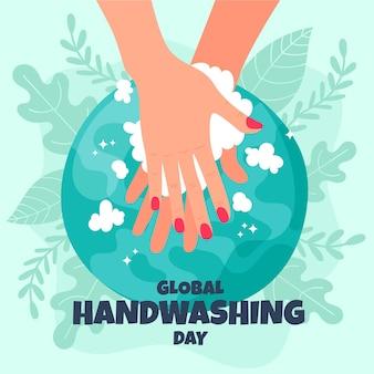 Wereldwijd handwasdagontwerp