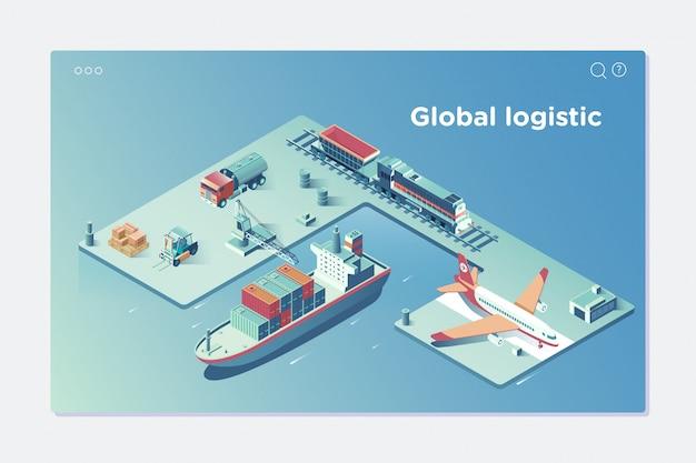 Wereldwijd logistiek netwerk
