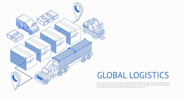 Wereldwijd logistiek ontwerp