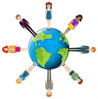 Wereldwijd netwerk van mensen
