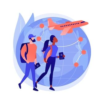 Wereldwijd reizend abstract concept