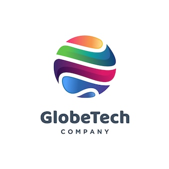 Wereldwijd technisch logo