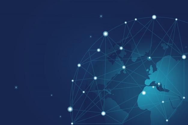 Wereldwijd zakelijk communicatienetwerk
