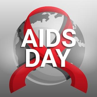 Wereldwijde aids dag achtergrond, cartoon stijl