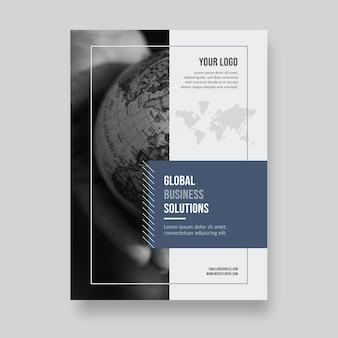Wereldwijde bedrijfsoplossing concept