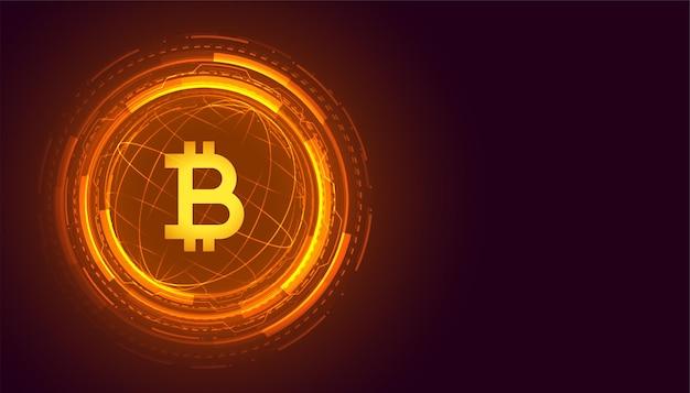 Wereldwijde bitcoin-technologie cryptocurrency-achtergrond