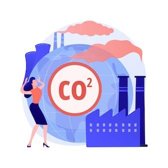 Wereldwijde co2-uitstoot abstract concept