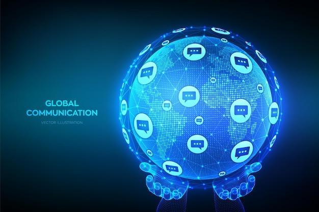 Wereldwijde communicatie achtergrond