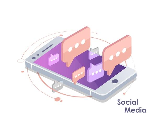 Wereldwijde communicatie, e-mailing, weboproepen isometrisch