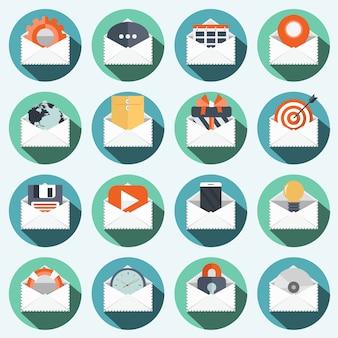Wereldwijde communicatie pictogramserie