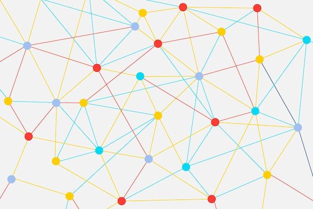 Wereldwijde communicatieachtergrond, zakelijk netwerk vectorontwerp