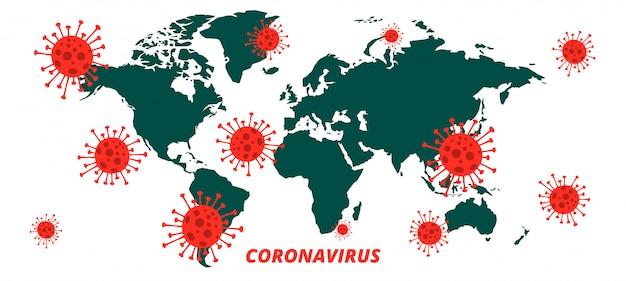 Wereldwijde covid-19 coronavirus pandemische infectie-uitbraakachtergrond