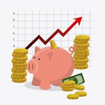 Wereldwijde economie, geld en bedrijfsleven