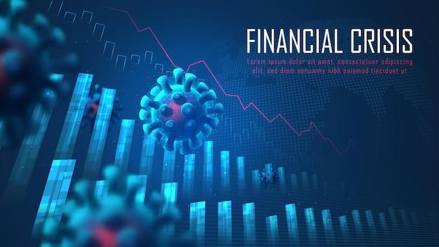 Wereldwijde financiële crisis van virus pandemie concept geschikt voor financiële investeringen
