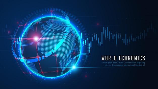 Wereldwijde financiële in grafisch concept