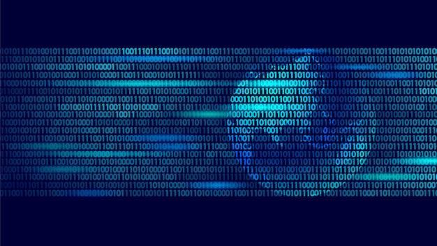 Wereldwijde gegevensuitwisseling binaire code planeet, beveiliging betaling