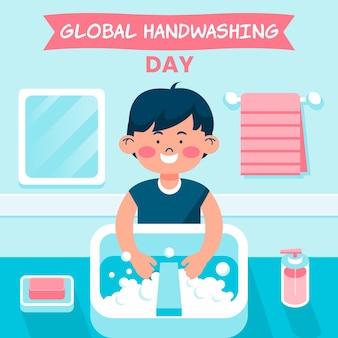 Wereldwijde handwasdag illustratie