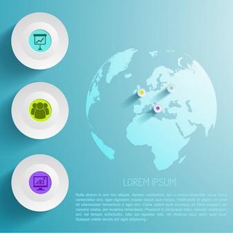 Wereldwijde infographic sjabloon
