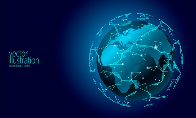 Wereldwijde internationale informatie-uitwisseling blockchain cryptocurrency-achtergrond