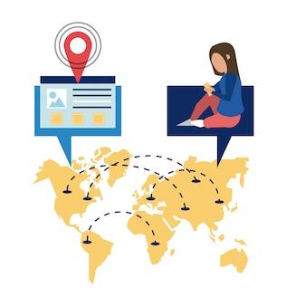 Wereldwijde levering van online bestellingen