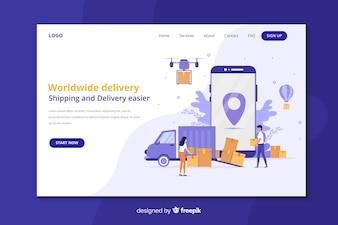 Wereldwijde leveringslandingspagina