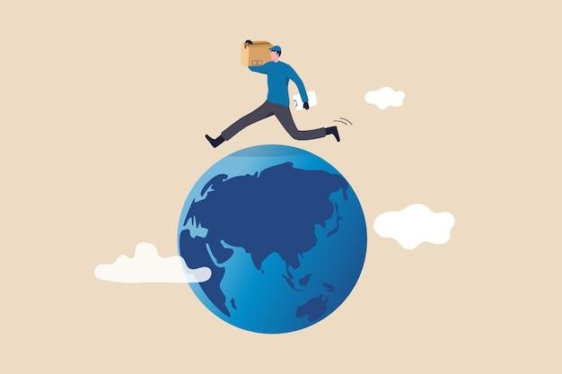 Wereldwijde logistieke service, wereld import en export transport