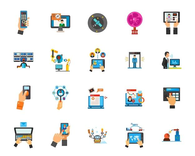 Wereldwijde netwerk icon set