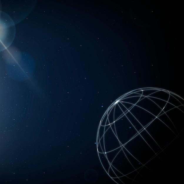 Wereldwijde netwerktechnologie achtergrond digitale communicatie