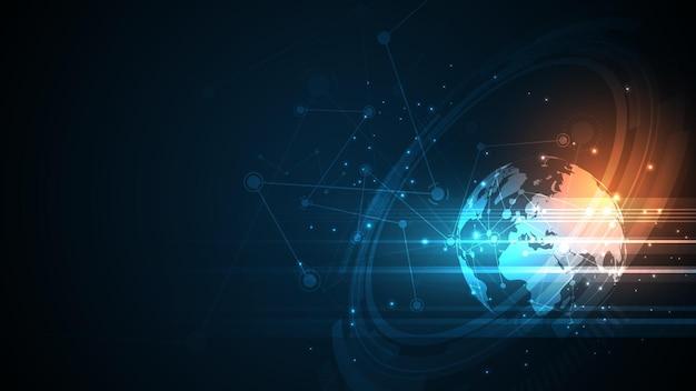 Wereldwijde netwerkverbinding achtergrond afbeelding