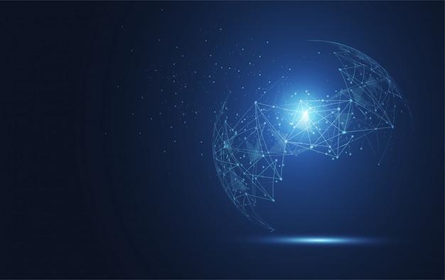 Wereldwijde netwerkverbinding achtergrond