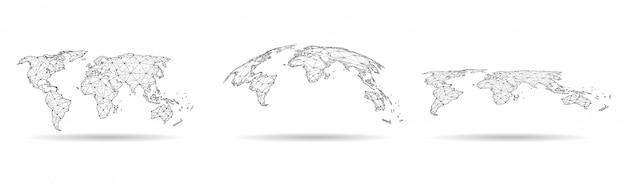 Wereldwijde netwerkverbinding illustratie